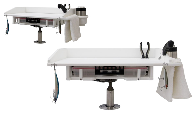 Fillet Table with Plano Tray Storage