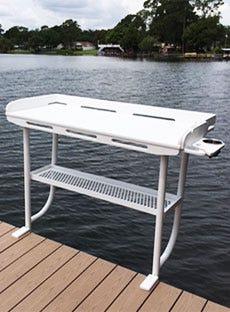 Overhanging Dock Fillet Table