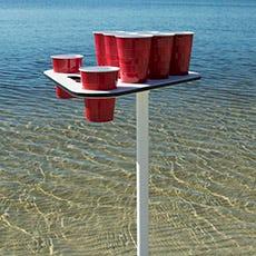 Sand Spike Beer Pong Table Set